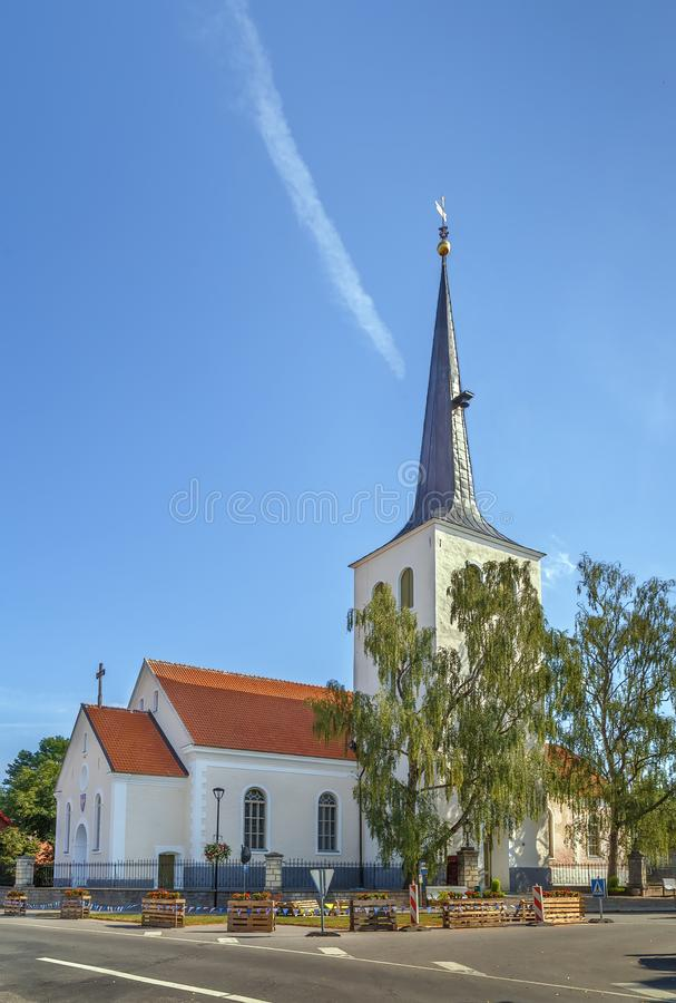 Paide Church, Estonia. Paide Holy Cross Church is a Lutheran church in Paide, Estonia stock images