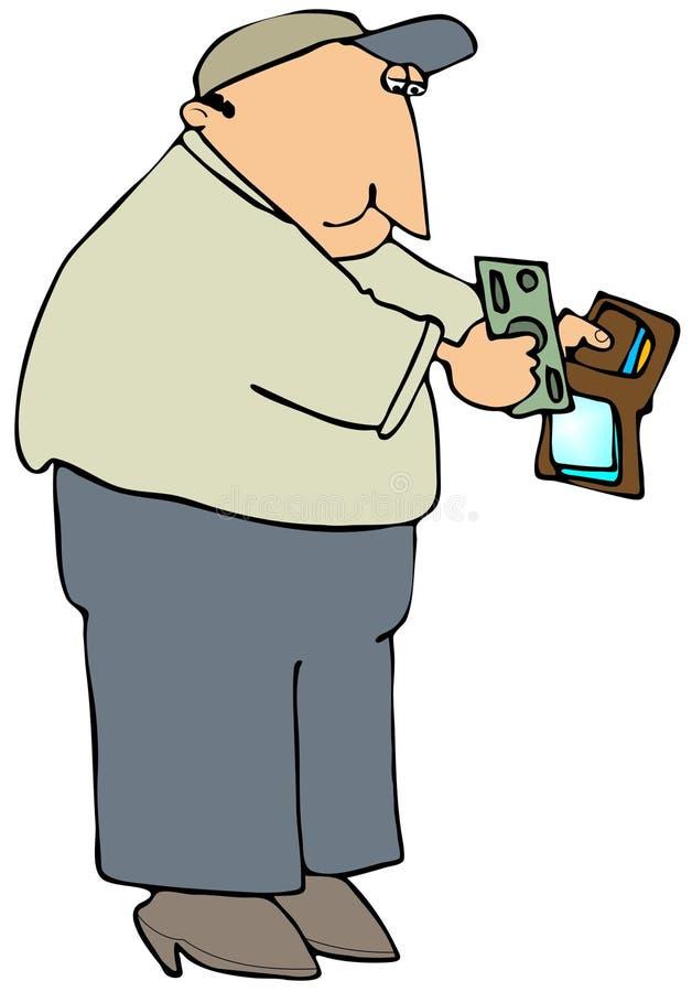 Paiement avec l'argent comptant illustration stock