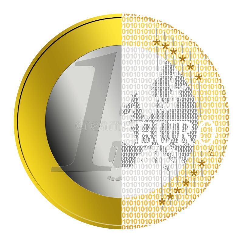 paiement d'euro d'e illustration stock