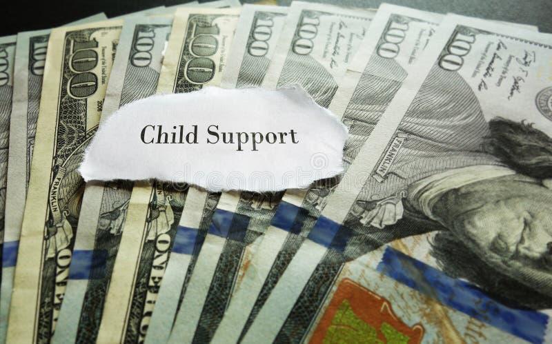 Paiement de pension alimentaire pour les enfants image stock