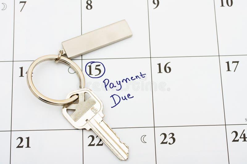 Paiement de votre hypothèque à l'heure image stock
