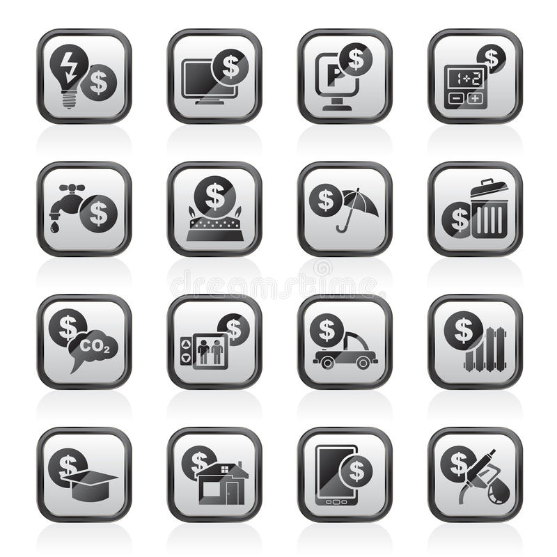 Paiement des icônes de factures illustration libre de droits