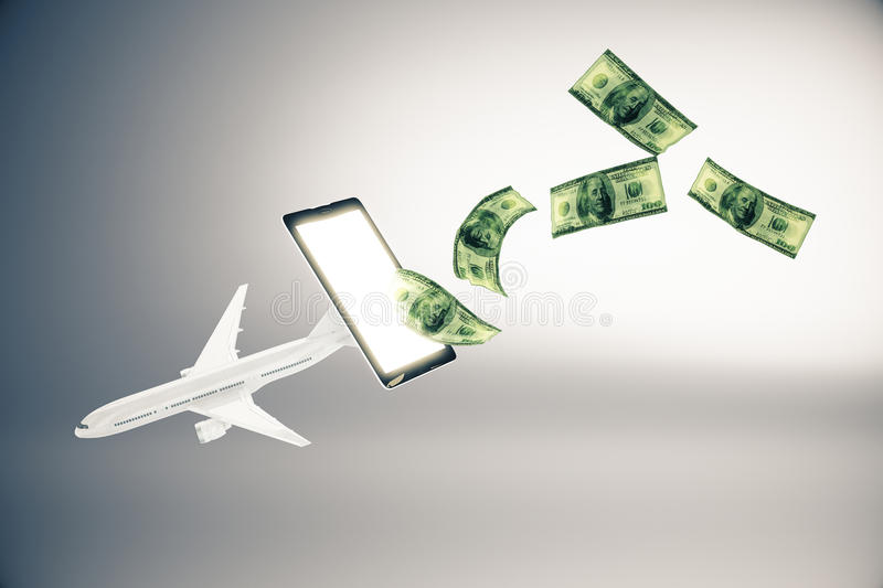 Download Paiement En Ligne Pour Des Billets D'avion Illustration Stock - Illustration du cellphone, avion: 77162329