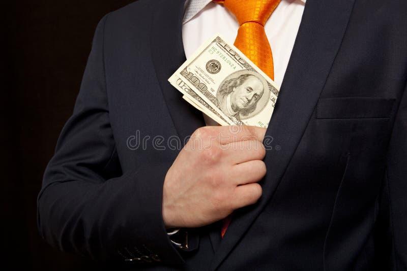 Paiement illicite, concept pour la corruption photographie stock libre de droits