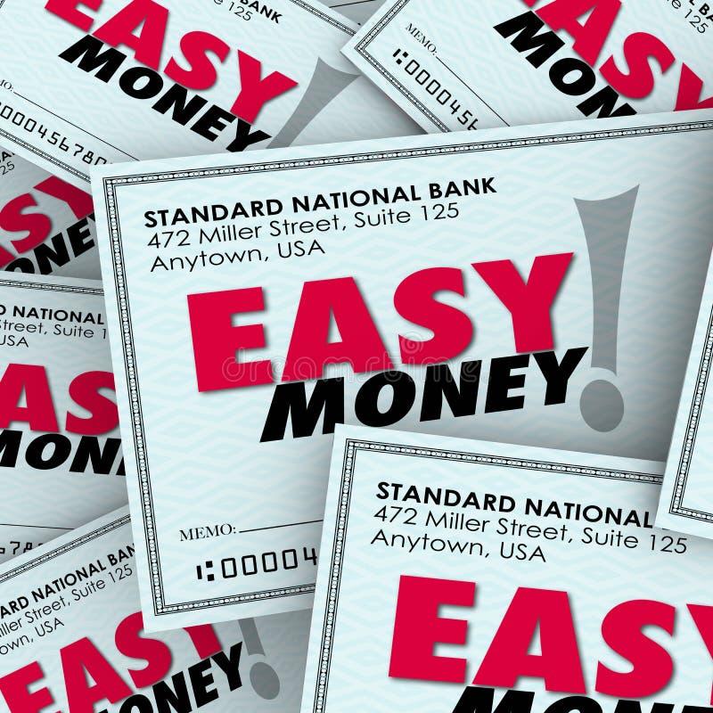 Paiement rapide gratuit sans effort de revenu passif de pile de contrôle d'argent facile illustration stock