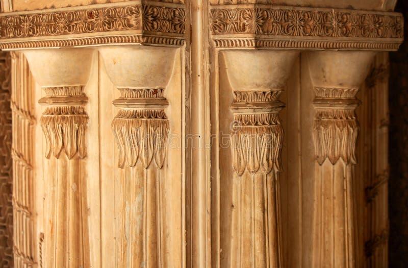 Paigah坟茔墙壁在印度 库存图片