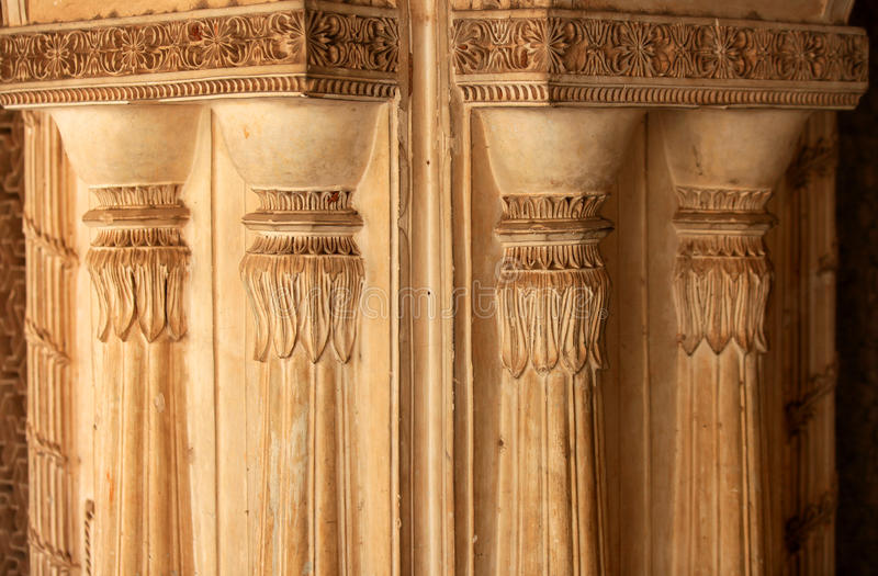 Paigah tombs walls in India stock images
