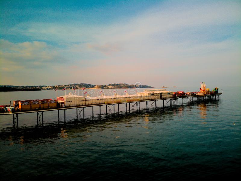 Paignton-Pier stockfoto