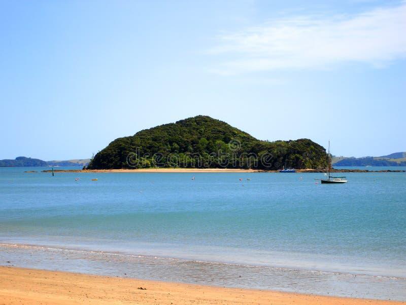 Paihia Beach, Bay of Islands, New Zealand royalty free stock photography