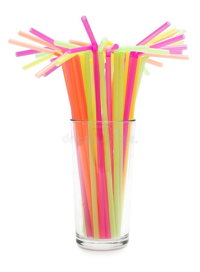 Pailles à boire colorées image libre de droits