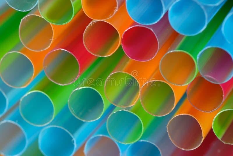 Pailles colorées photo stock
