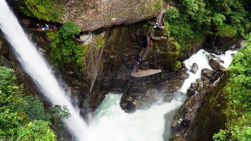 Pailon Del Diablo, cascade de chaudron de diables en Equateur image libre de droits