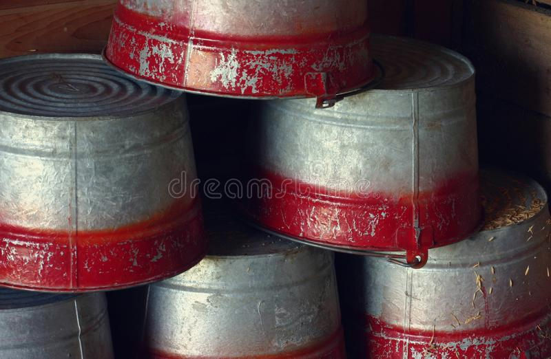 Download Pails stock photo. Image of down, texture, grey, stacked - 25834