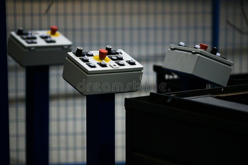 Painéis de controle da maquinaria de construção imagem de stock royalty free