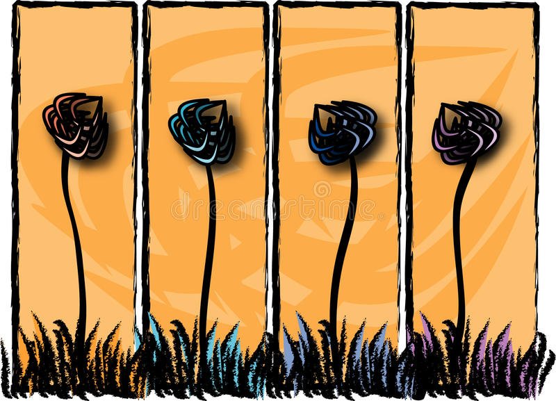 Painéis da flor foto de stock