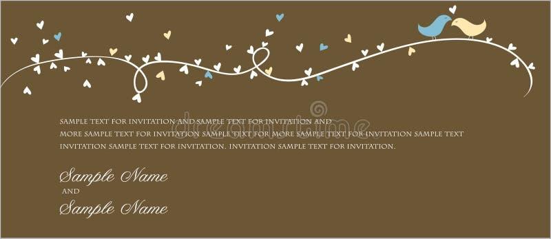 Painéis do convite do casamento ilustração royalty free