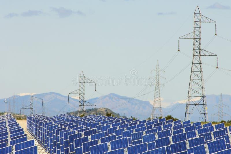 Painéis Photovoltaic foto de stock royalty free