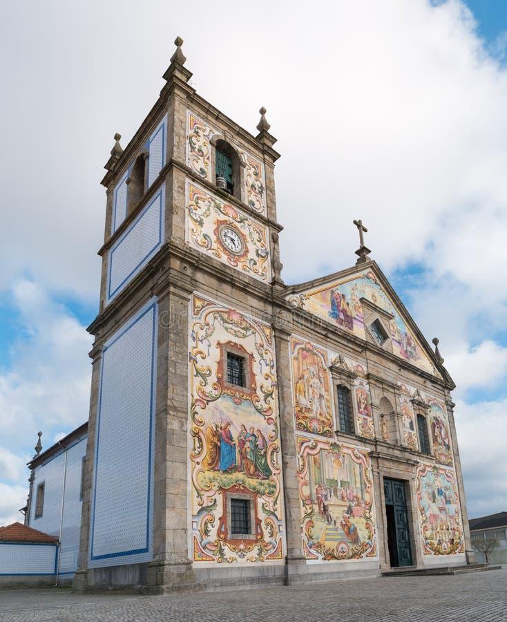 Painéis pintados à mão de telhas portuguesas tradicionais fotos de stock royalty free