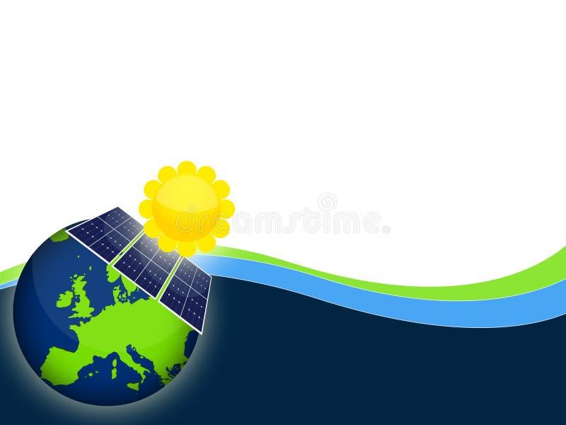 Painéis solares ilustração do vetor