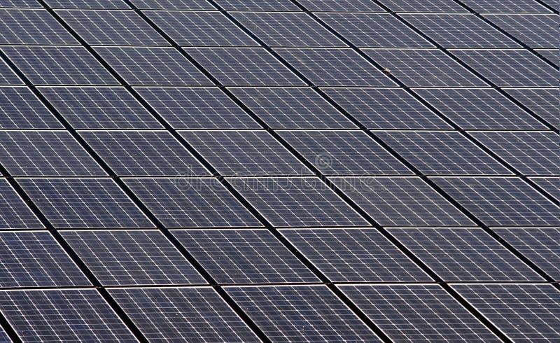Painéis solares fotografia de stock