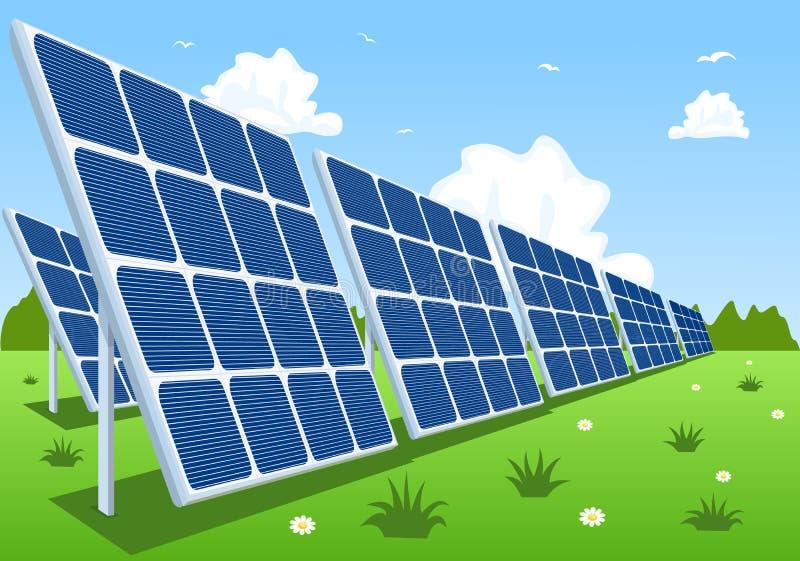 Painéis solares ou módulos fotovoltaicos ilustração do vetor