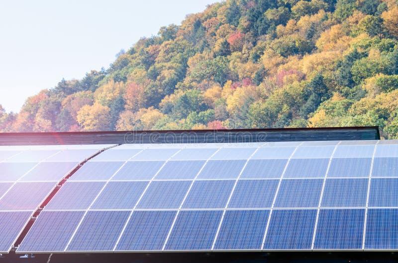 Painéis solares para a geração de eletricidade imagem de stock