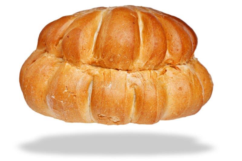 Pain blanc de maison de pain d'isolement sur le blanc photographie stock libre de droits