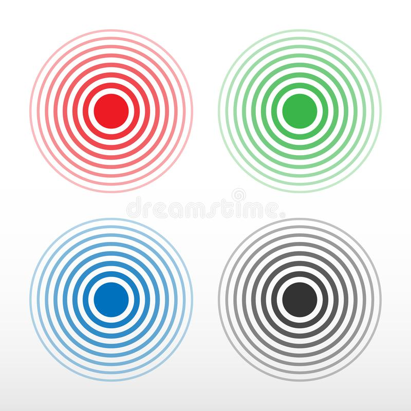 Pain Circle Multicolored Ring Symbol Of Pain Stock Vector