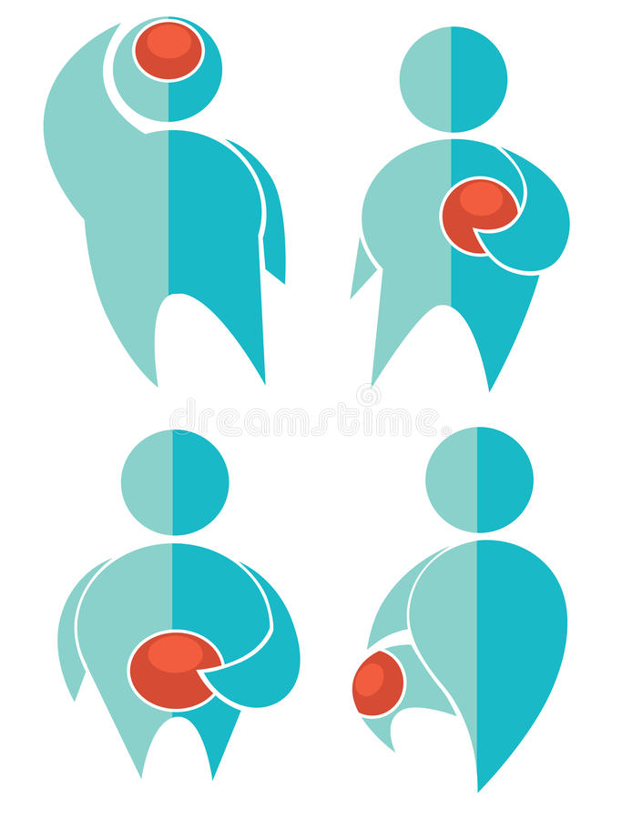 Pain collection vector illustration