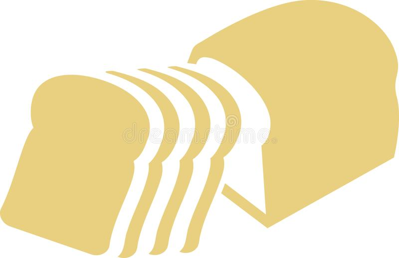 Pain coupé en tranches de pain de bidon illustration de vecteur