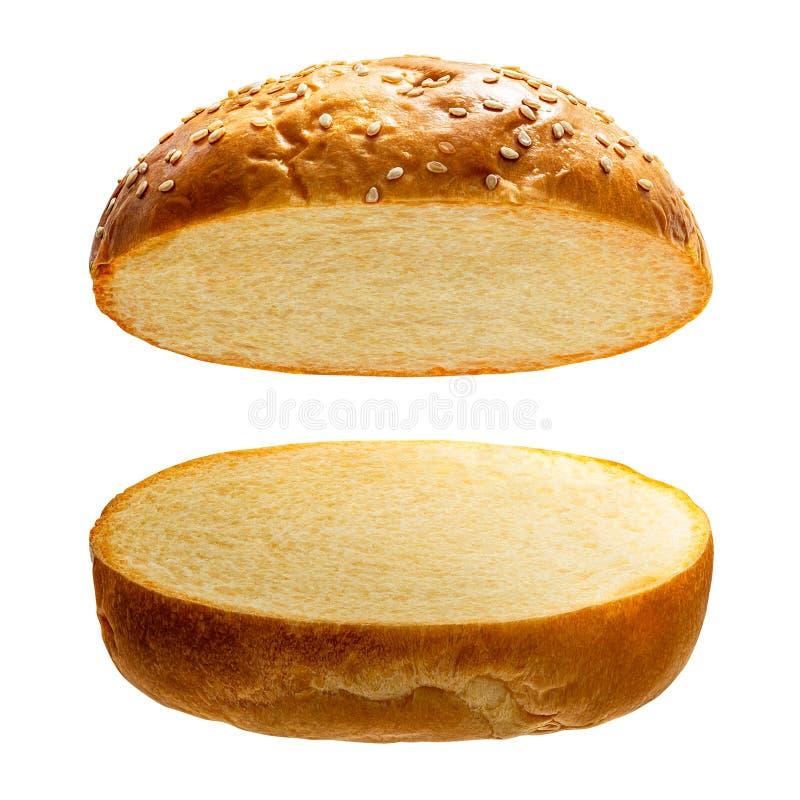 pain d'hamburger d'isolement photographie stock libre de droits