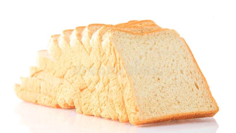 Pain de blé entier sur un fond blanc photo stock