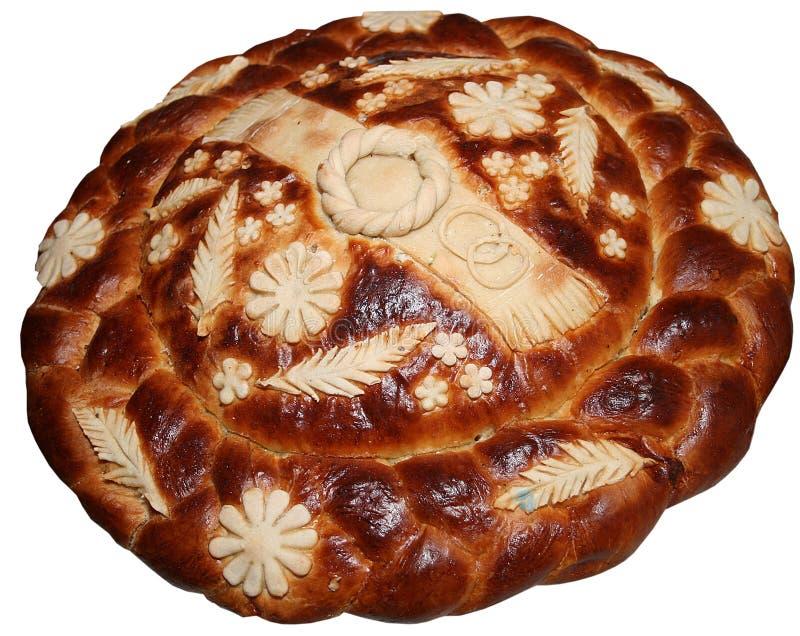 Pain de fête ukrainien d'isolement 10 de vacances de boulangerie photographie stock