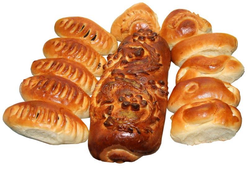 Pain de fête ukrainien d'isolement 14 de vacances de boulangerie photographie stock libre de droits