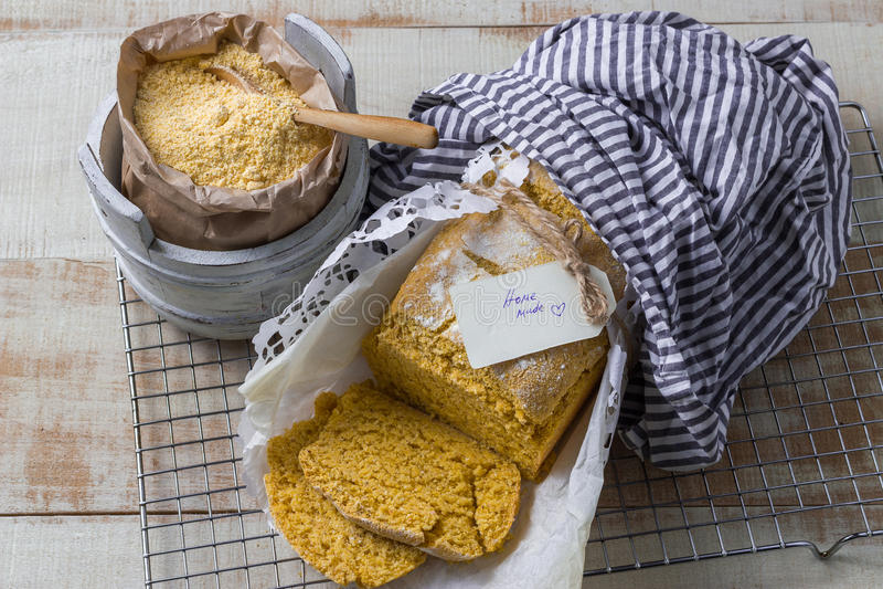 Pain de maïs image stock