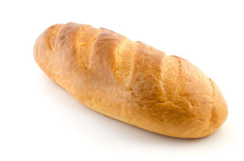 Pain de pain d'isolement sur le blanc photo stock