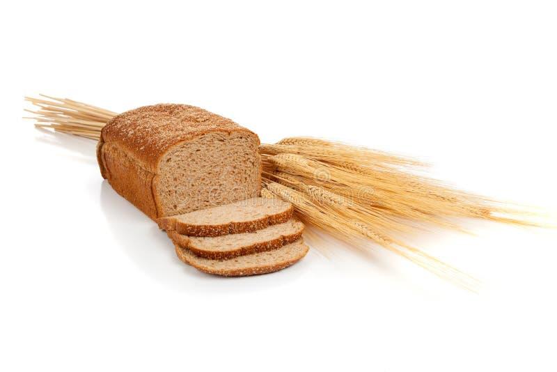 Pain de pain de blé et chocs de blé image stock