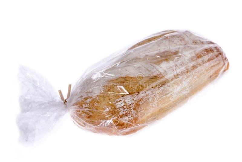Pain de pain de pomme de terre et de romarin dans un sachet en plastique photographie stock libre de droits