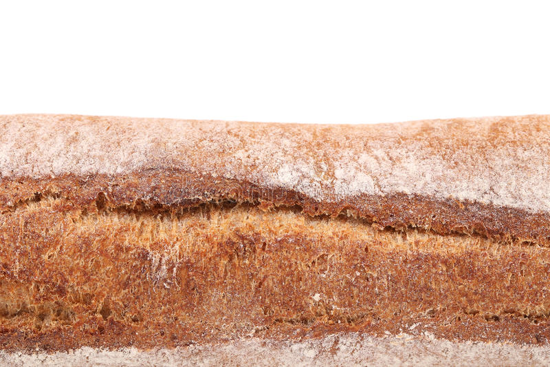 Pain de pain de seigle noir avec de la farine photo libre de droits