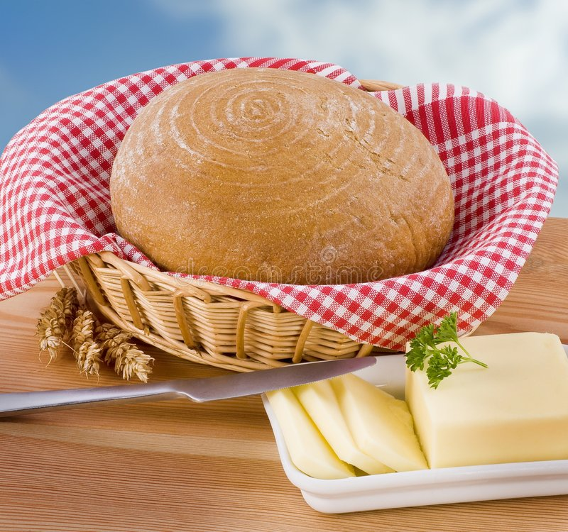 Pain de pain et de beurre photo libre de droits