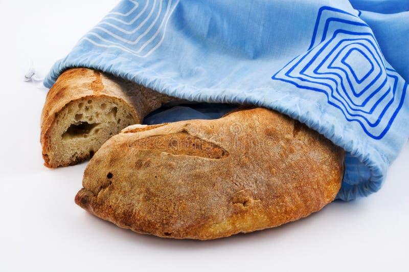 Pain de pain et sac de coton photo libre de droits