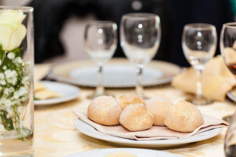 Pain de restaurant image libre de droits