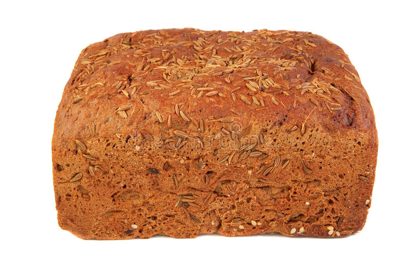 Pain de Rye avec la graine de cumin photos stock