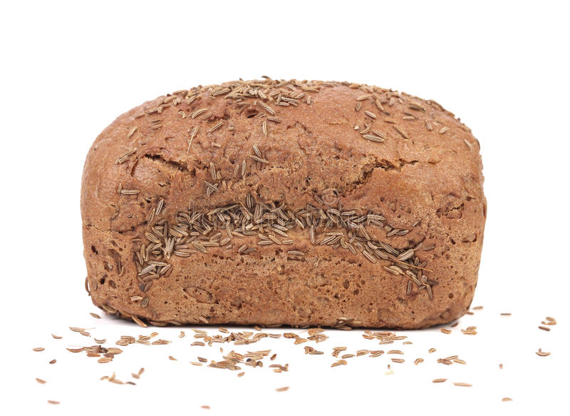 Pain de Rye avec la graine de cumin photo stock