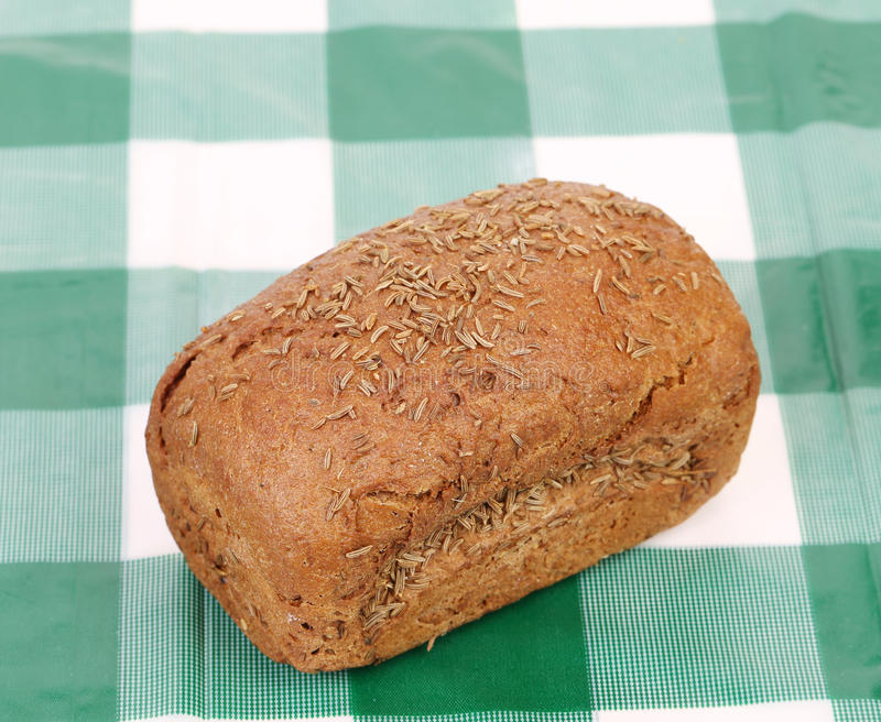 Pain de Rye avec la graine de cumin. photo stock