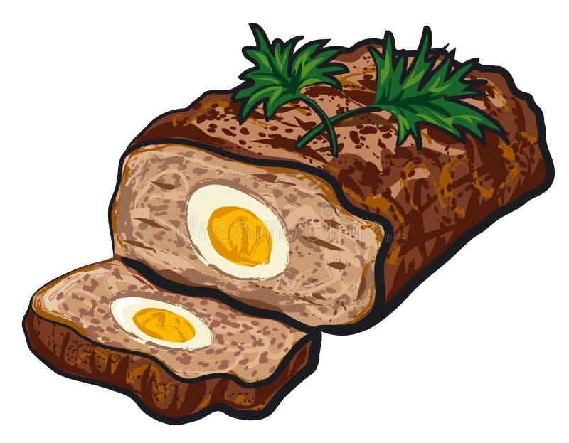 Pain de viande préparé illustration stock