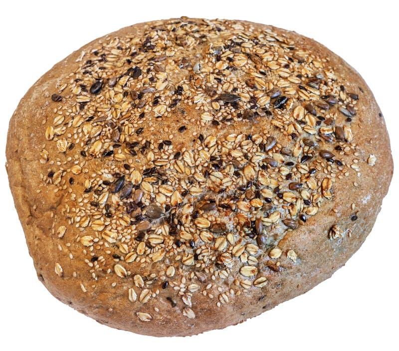 Pain du pain de Brown intégral d'isolement sur le fond blanc photos libres de droits