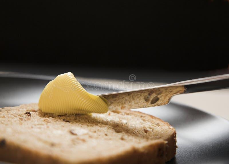 Pain et beurre photo stock