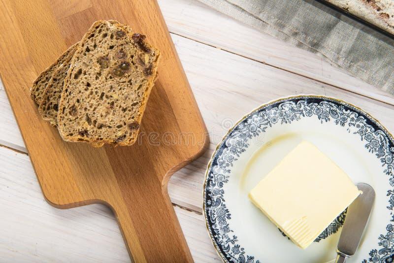 Pain et beurre de Rye image libre de droits