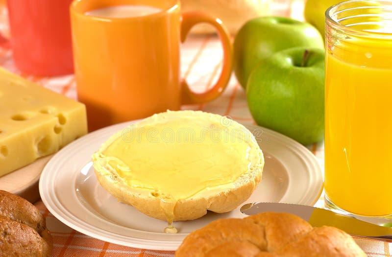 Pain et beurre et miel   photos stock